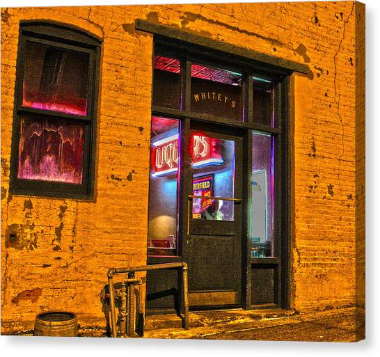 Whitey's Bar And Grill Canvas Print