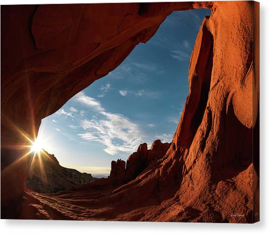 Canvas Print featuring the photograph Whitney Pocket Arch by Leland D Howard
