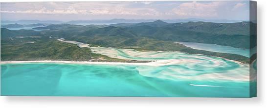 White Sand Canvas Print - Whitsunday Wonders by Az Jackson
