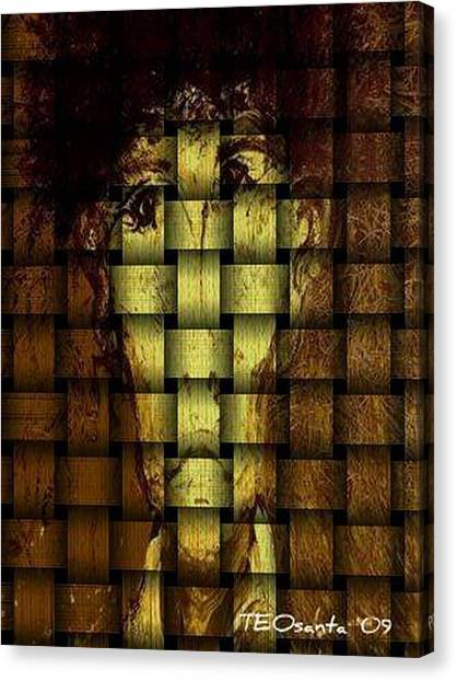 Who Am I   Series 3  Canvas Print by Teodoro De La Santa