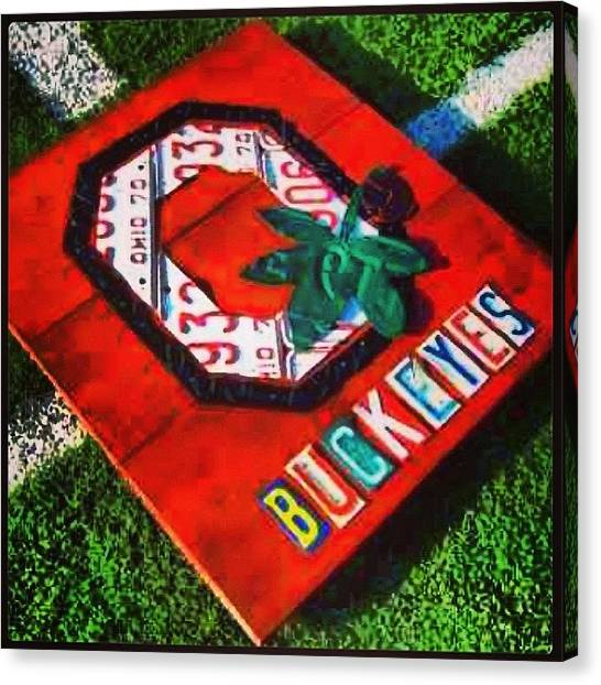 University Canvas Print - Who Are You Rooting For Tonight?  #osu by Design Turnpike