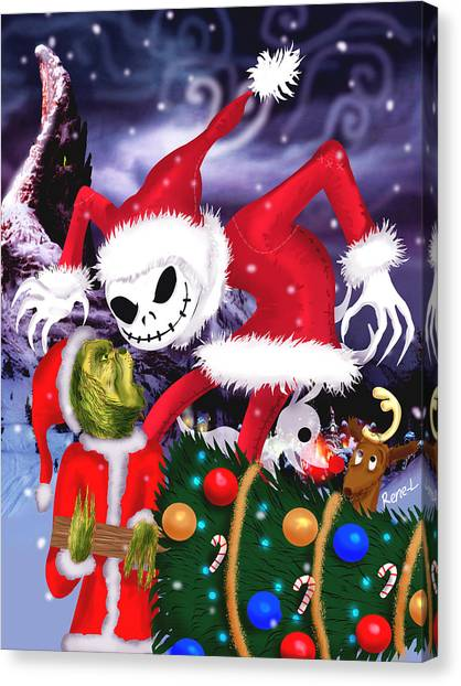 Grinch Canvas Print - Who Stole It Better? by Rene Lopez