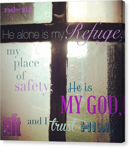 Design Canvas Print - Whoever Dwells In The Shelter Of The by LIFT Women's Ministry designs --by Julie Hurttgam