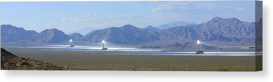Solar Farms Canvas Print - Whole Solar Farm by Clyn Robinson