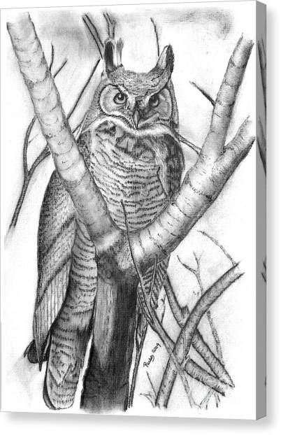 Whooo Canvas Print by Russ  Smith