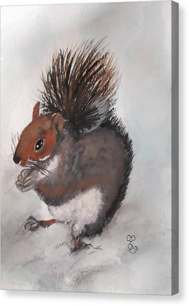 Who's Had Me Nuts Canvas Print