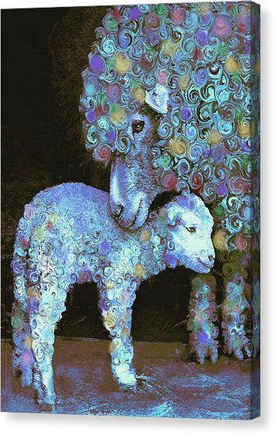 Whose Little Lamb Are You? Canvas Print