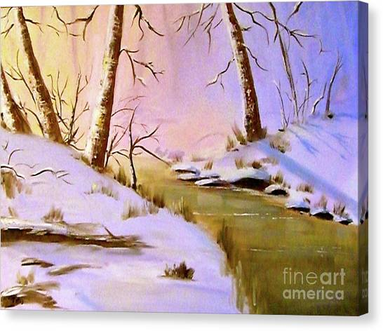 Whose Woods These Are Canvas Print