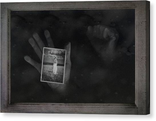 Hands Canvas Print - Why Did You Leave Me by Tom Mc Nemar