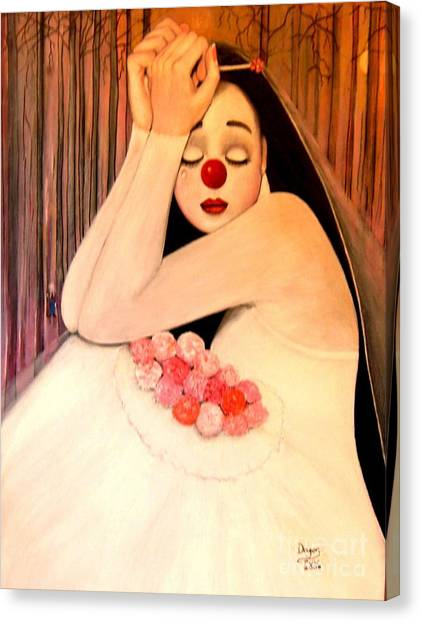 Why Is The Bride Crying Canvas Print by Patricia Velasquez de Mera