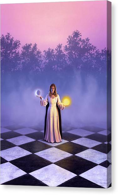 Gown Canvas Print - Wiccan Dawn by Jerry LoFaro