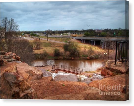 Wichita Falls View Canvas Print by Fred Lassmann