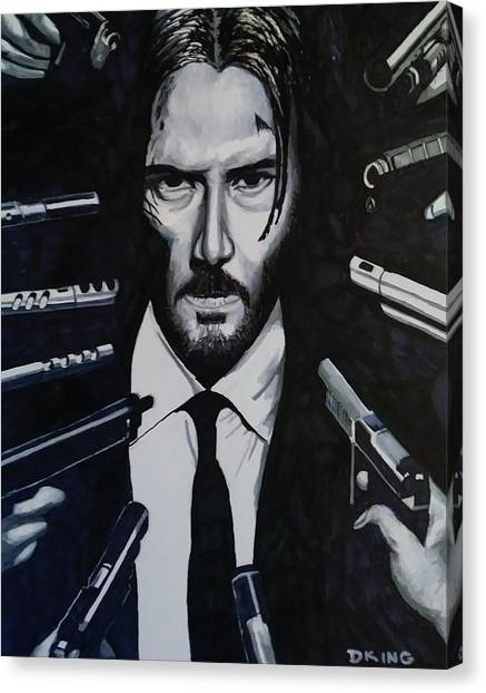 Keanu Reeves Canvas Print - Wick by Daniel King