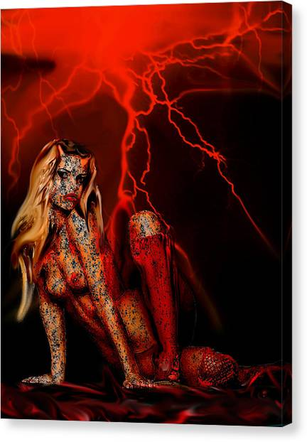Wicked Beauty Canvas Print
