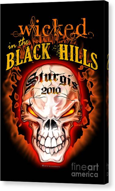 Wicked In The Black Hills - Sturgis 2010 Canvas Print