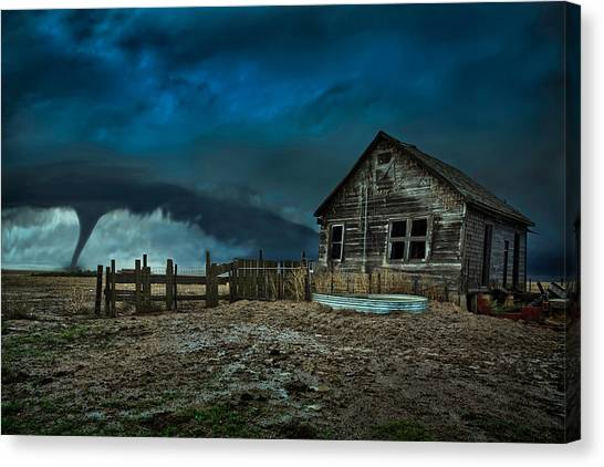 Tornadoes Canvas Print - Wicked by Thomas Zimmerman