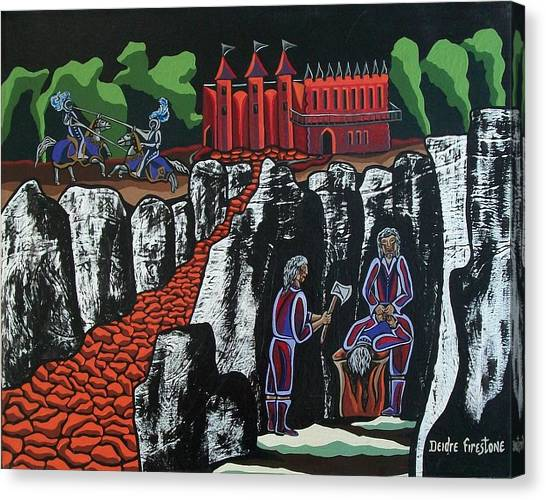 Wicked Times Canvas Print by Deidre Firestone