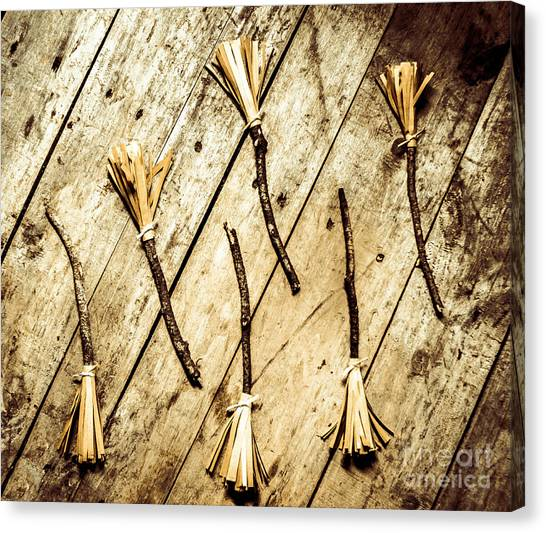 Witches Canvas Print - Wicked Witch Broomsticks by Jorgo Photography - Wall Art Gallery