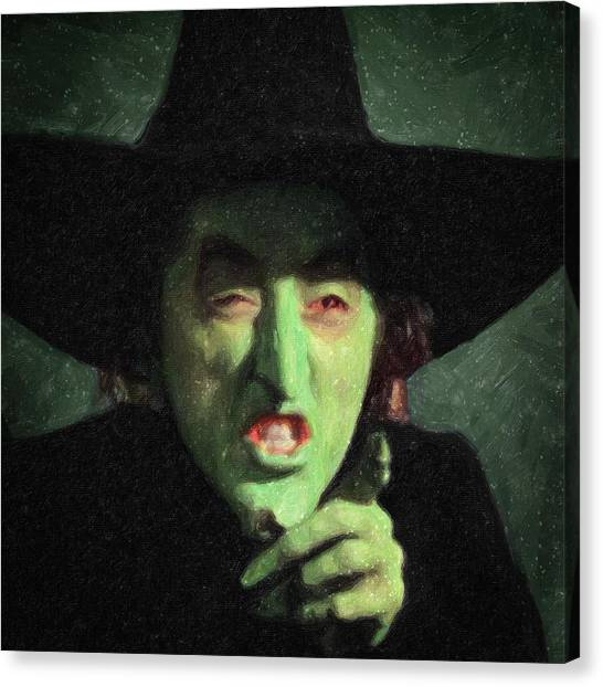 Scarecrows Canvas Print - Wicked Witch Of The East by Taylan Apukovska