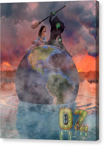 Mystic Setting Canvas Print - Wickedful Oz by Betsy Knapp