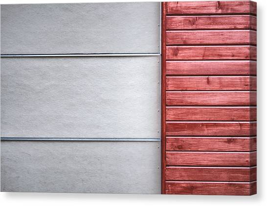 Wood Grain Canvas Print - Wide And Narrow Lines by Scott Norris