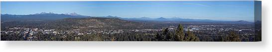 Bachelor Canvas Print - Wide Panorama Of Bend Oregon by Twenty Two North Photography