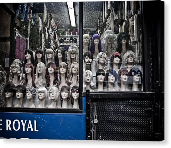 New York Taxi Street City Canvas Wall Art Picture Print Va: Wig Shop Photograph By Darren Martin