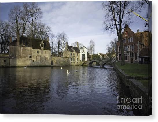 Belgium Canvas Print - Wijngaardplein Bruges by Smart Aviation