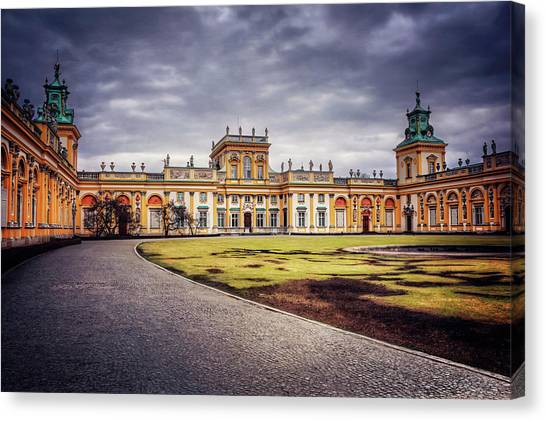 Wilanow Palace In Warsaw  Canvas Print