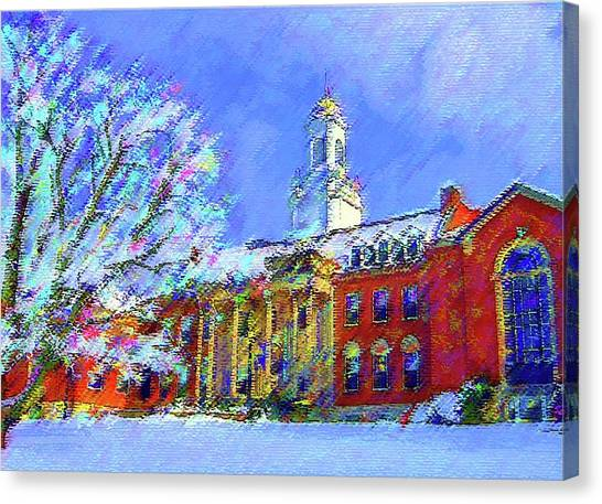 Wilbur Library  Uconn Canvas Print