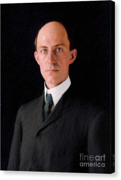 Aviators Canvas Print - Wilbur Wright, Aviator by Mary Bassett