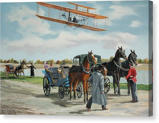 Wilbur Wright In France Canvas Print by Kenneth Young