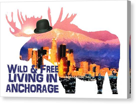 Wild And Free-in Anchorage Canvas Print