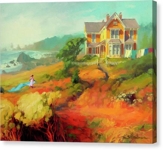 Beach Artwork Canvas Print - Wild Child by Steve Henderson