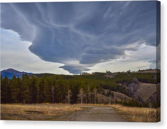 Wild Clouds In The Mountains Canvas Print