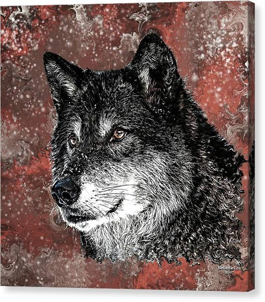 Wild Dark Wolf Canvas Print