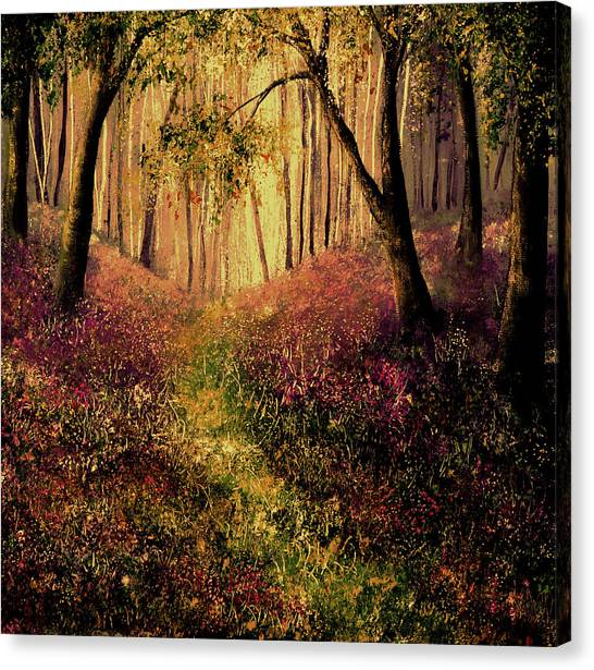 Wild Flower Forest Canvas Print by Ann Marie Bone