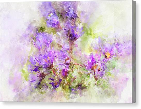 Wild Flowers In The Fall Watercolor Canvas Print