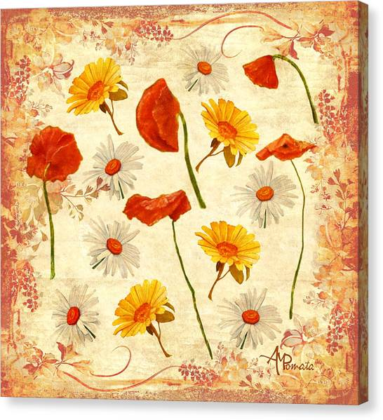 Wild Flowers Vintage Canvas Print