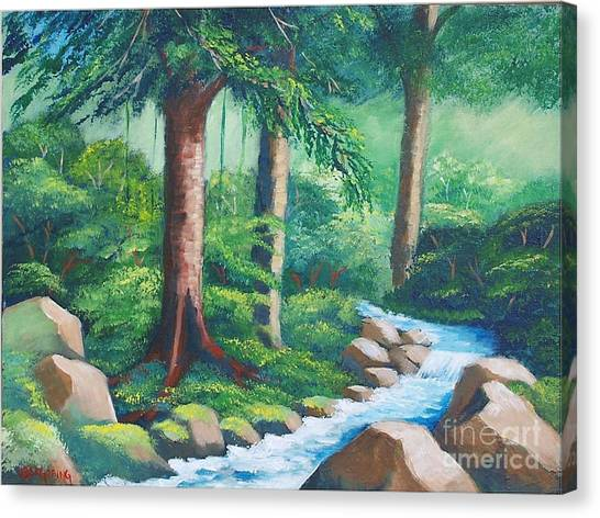 Wild Forest River Canvas Print