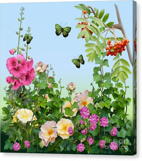 Canvas Print featuring the painting Wild Garden by Ivana Westin
