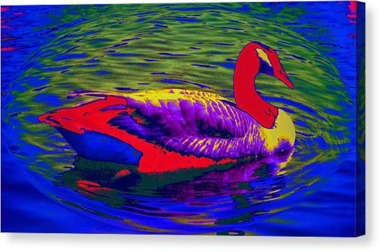 Wild Goose Canvas Print by Russ Mullen