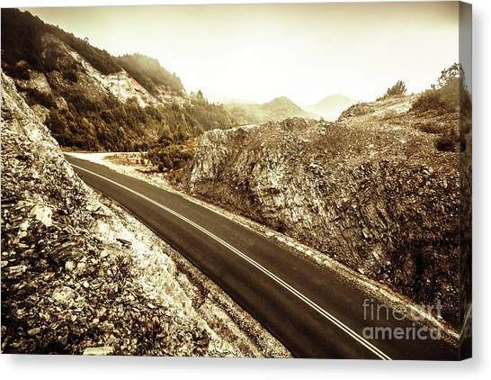 Mountain Ranges Canvas Print - Wild Highland Road by Jorgo Photography - Wall Art Gallery