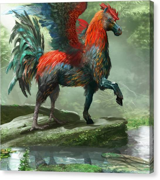 Pegasus Canvas Print - Wild Hippalektryon by Ryan Barger