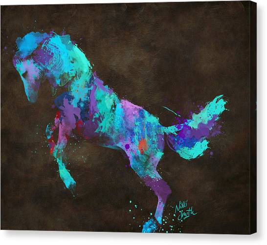 Rolling Stones Canvas Print - Wild Horses Couldn't Drag Me Away From You by Nikki Marie Smith