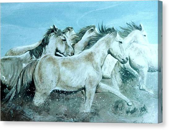 Wild Ones Canvas Print by Terri Kilpatrick