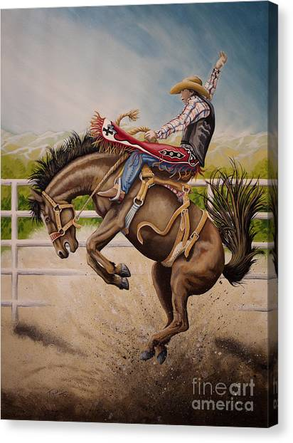 Wild Ride Bronc Canvas Print