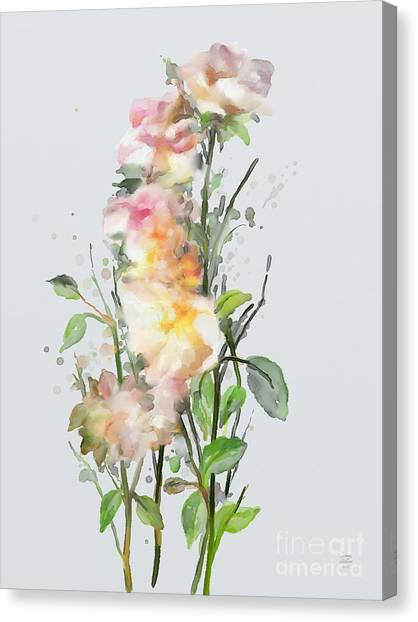 Canvas Print featuring the painting Wild Roses by Ivana Westin