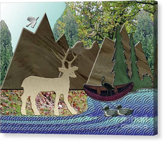 Wild Rural Animals Canvas Print