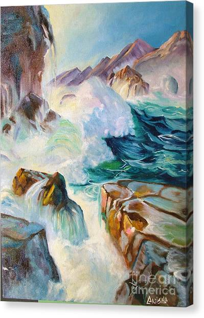 Wild Sea Canvas Print by Anisha Shah